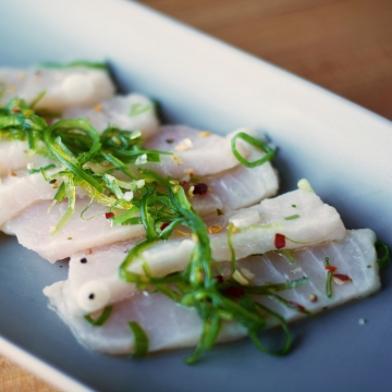 Blue marlin carpaccio