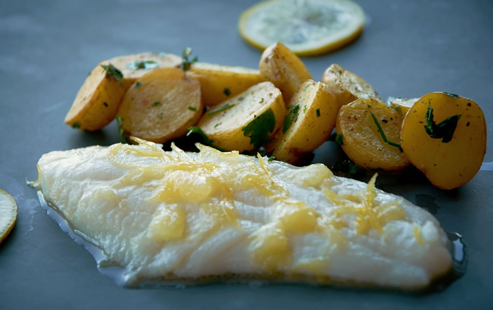 Turbot fillet with lemon