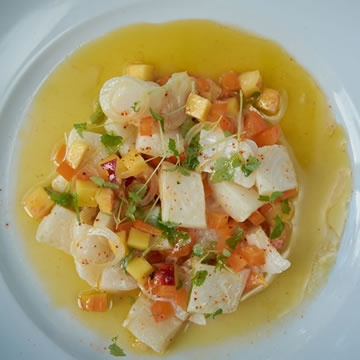 Turbot ceviche