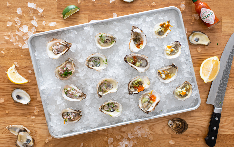 4 oyster toppings