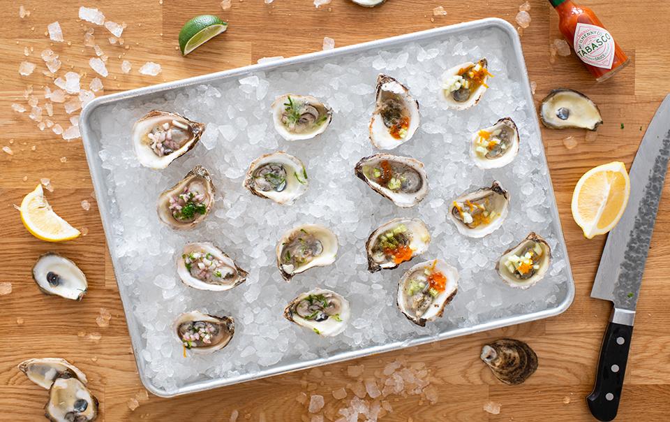 4 Garnitures variées pour huîtres