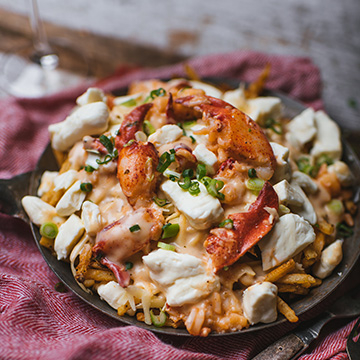 Lobster poutine with bisque sauce